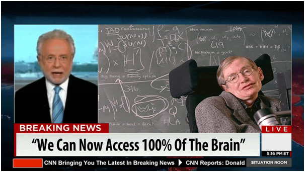 We can now access 100% of the brain!